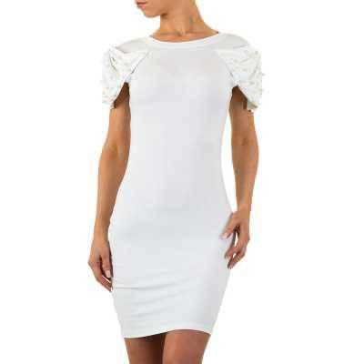 Stretchkleid für Damen in Weiß