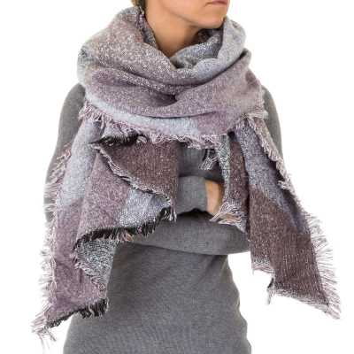 Riesen Wollmix Xxl Schal Violett
