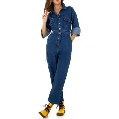 Langer Jumpsuit für Damen in Blau