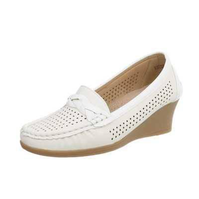 Mokassins für Damen in Weiß