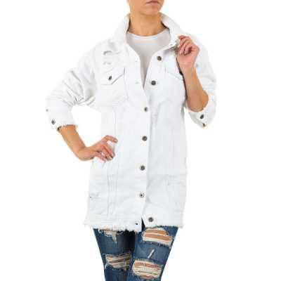 Jeansjacke für Damen in Weiß