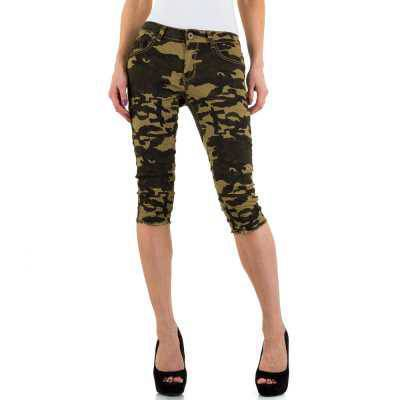 Capri-Jeans für Damen in Grün