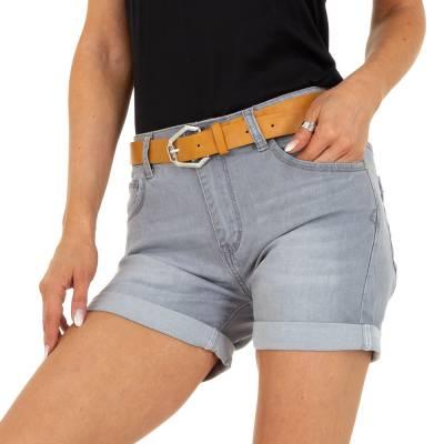 Jeansshorts für Damen in Grau und Grau