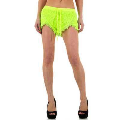Hotpants für Damen in Gelb