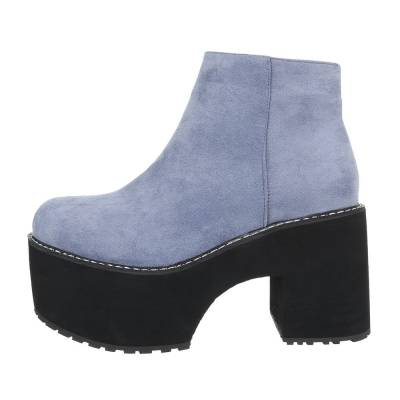 High Heel Stiefeletten für Damen in Blau