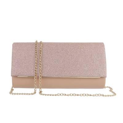 Kleine Damen Tasche Gold Rosa