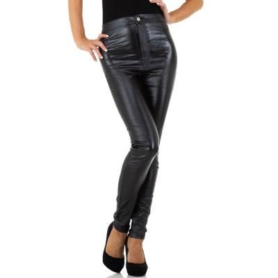 Hose in Lederoptik für Damen in Mehrfarbig