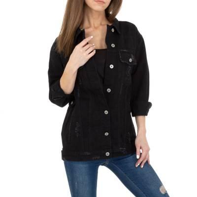 Jeansjacke für Damen in Schwarz