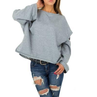 Sweatshirt für Damen in Grau