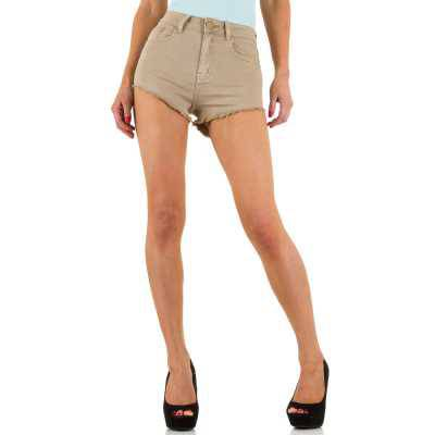 Hotpants für Damen in Beige