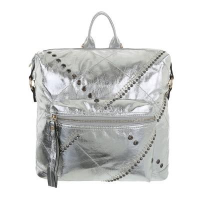 Rucksack für Damen in Silber
