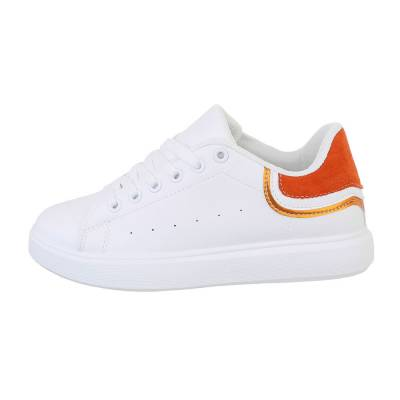 Sneakers low für Damen in Weiß und Orange