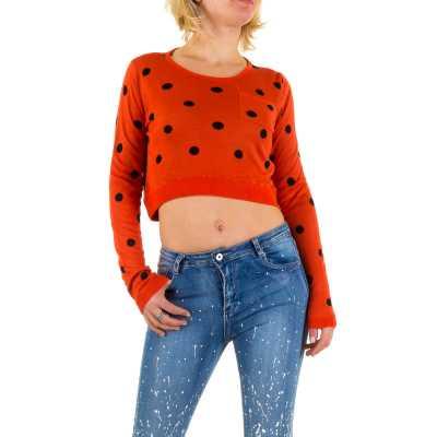 Strickpullover für Damen in Orange