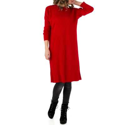 Longpullover/Tunika für Damen in Rot