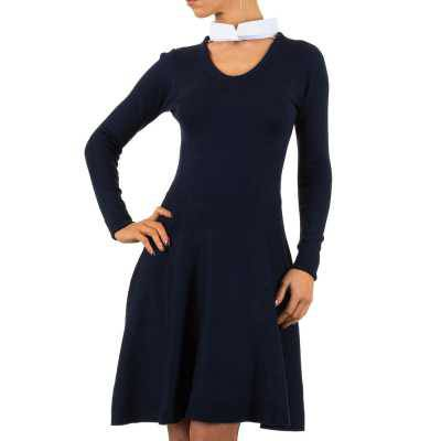Strickkleid für Damen in Blau