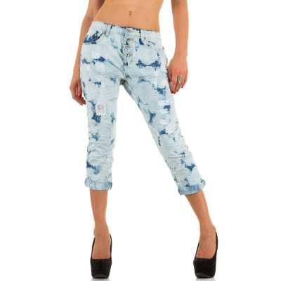 Capri-Jeans für Damen in Blau