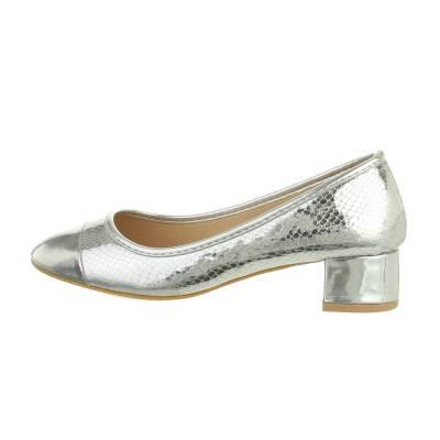 Klassische Pumps für Damen in Silber