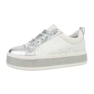 Sneakers low für Damen in Weiß und Silber