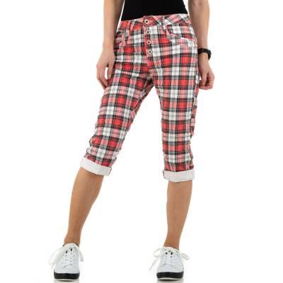 Capri-Jeans für Damen in Rot