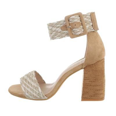 High Heel Sandaletten für Damen in Beige