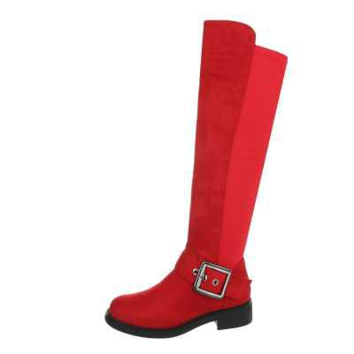 Overknees für Damen in Rot