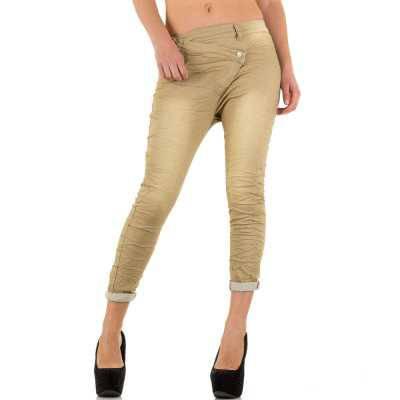 Boyfriend Jeans für Damen in Beige