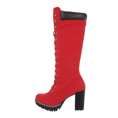 High Heel Stiefel für Damen in Rot