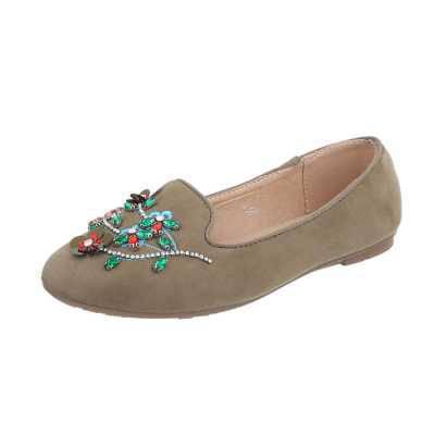 Slipper für Damen in Grün