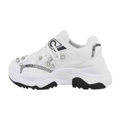Sneakers low für Damen in Weiß und Schwarz