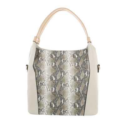 Mittelgroße Damen Tasche Beige Multi