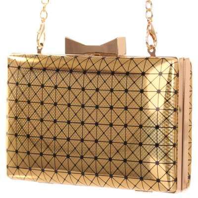 Kleine Damen Tasche Gold