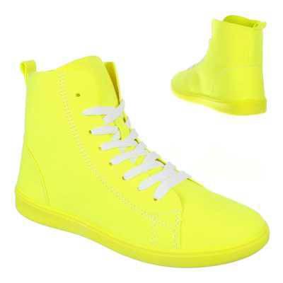 Sneakers high für Damen in Gelb