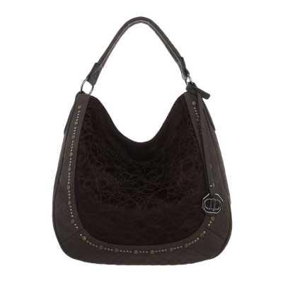 Mittelgroße Damen Tasche Dunkelbraun