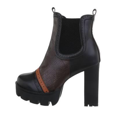 Chelsea Boots für Damen in Schwarz und Braun