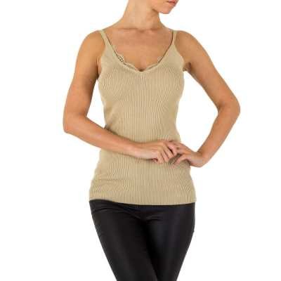 Top für Damen in Beige