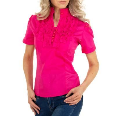 Hemdbluse für Damen in Pink