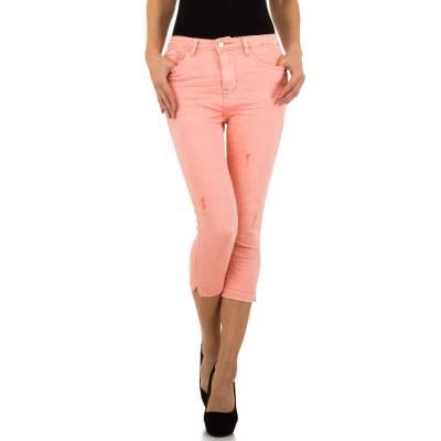 Capri-Jeans für Damen in Rosa