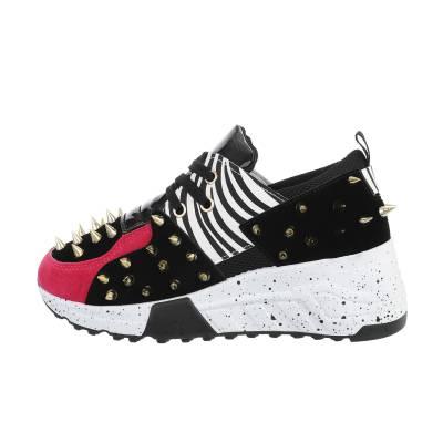 Sneakers low für Damen in Schwarz und Rosa