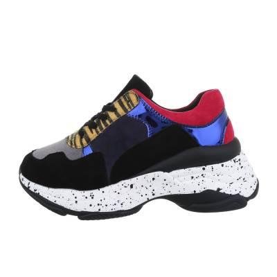 Sneakers low für Damen in Blau und Schwarz