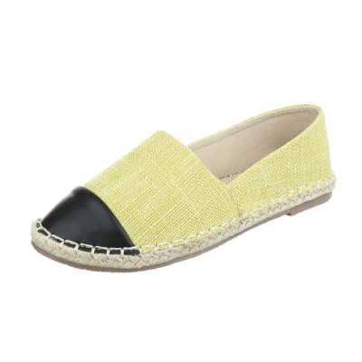 Espadrilles für Damen in Gelb