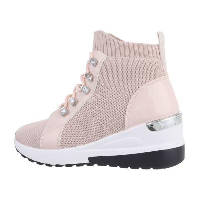 Sneakers High für Damen in Altrosa