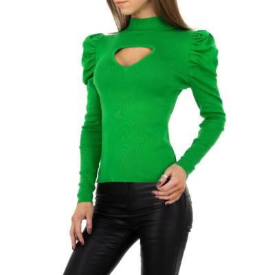 Strickpullover für Damen in Grün