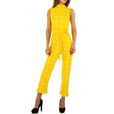 Langer Jumpsuit für Damen in Gelb