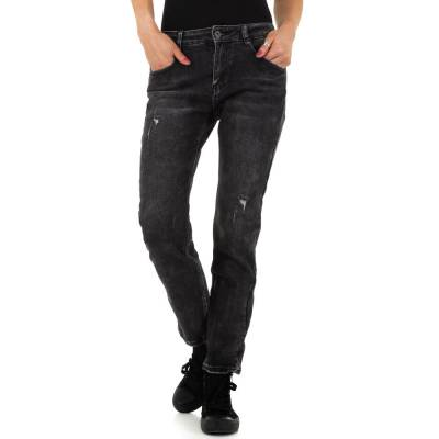 Boyfriend Jeans für Damen in Schwarz