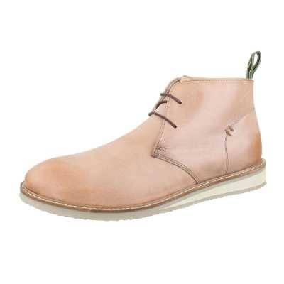 Schnürer Herren Leder Boots Beige