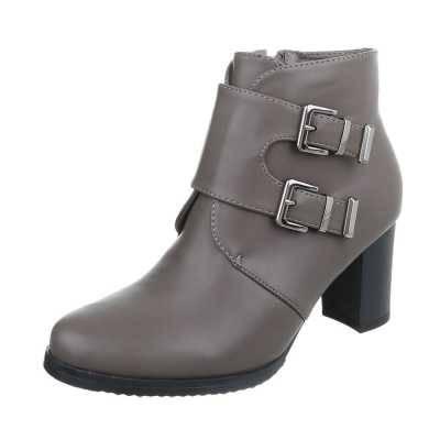 Klassische Stiefeletten für Damen in Grau