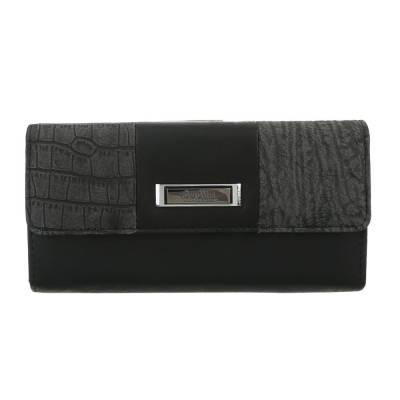 Portemonnaie Damen Geldbörse Schwarz
