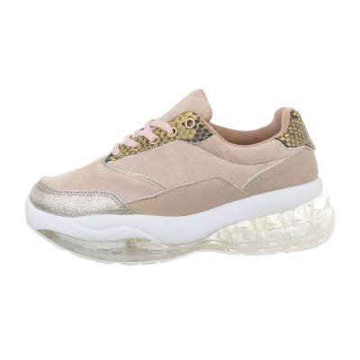 Sneakers low für Damen in Beige und Weiß