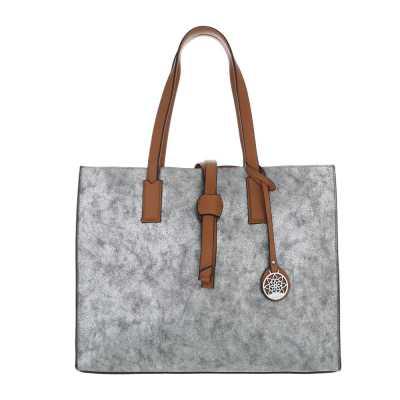 Shopper für Damen in Silber