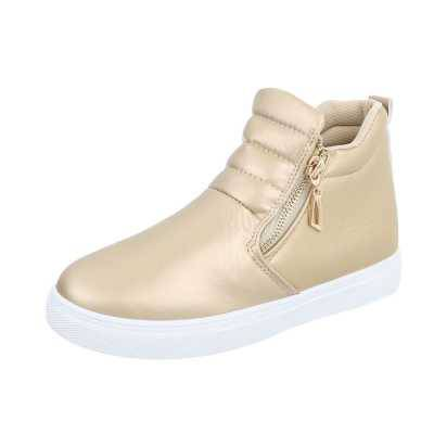Sneakers high für Damen in Gold